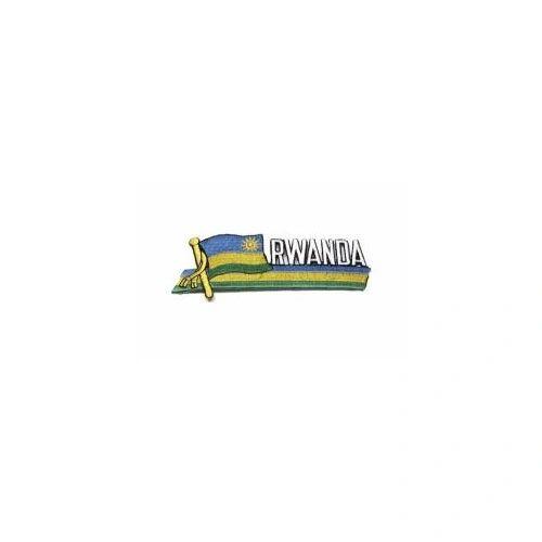 RWANDA SIDEKICK WORD COUNTRY FLAG IRON ON PATCH CREST BADGE