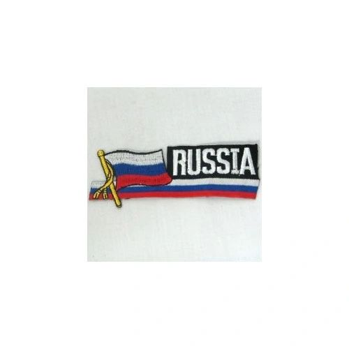RUSSIA SIDEKICK WORD COUNTRY FLAG IRON ON PATCH CREST BADGE