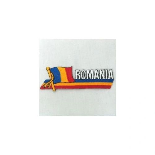 ROMANIA SIDEKICK WORD COUNTRY FLAG IRON ON PATCH CREST BADGE