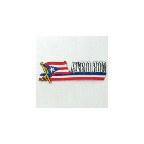 PUERTO RICO SIDEKICK WORD COUNTRY FLAG IRON ON PATCH CREST BADGE