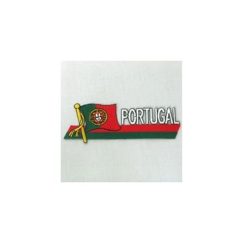 PORTUGAL SIDEKICK WORD COUNTRY FLAG IRON ON PATCH CREST BADGE