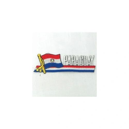 PARAGUAY SIDEKICK WORD COUNTRY FLAG IRON ON PATCH CREST BADGE