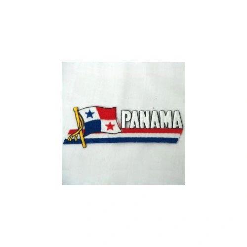 PANAMA SIDEKICK WORD COUNTRY FLAG IRON ON PATCH CREST BADGE