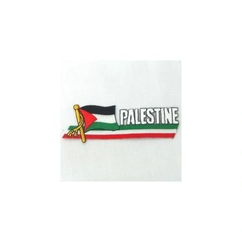 PALESTINE SIDEKICK WORD COUNTRY FLAG IRON ON PATCH CREST BADGE