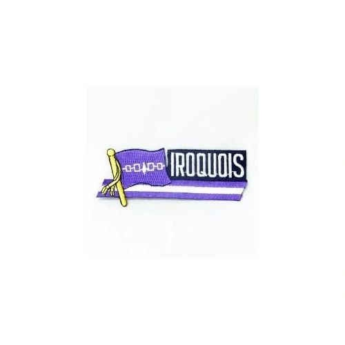 IROQUOIS SIDEKICK WORD COUNTRY FLAG IRON ON PATCH CREST BADGE