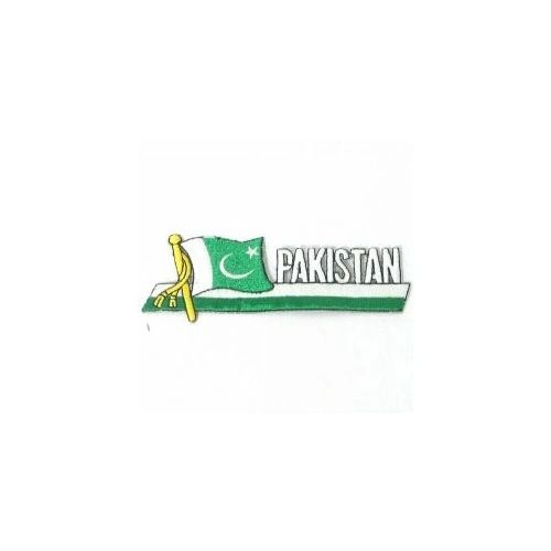 PAKISTAN SIDEKICK WORD COUNTRY FLAG IRON ON PATCH CREST BADGE
