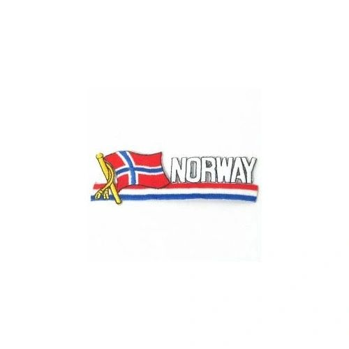 NORWAY SIDEKICK WORD COUNTRY FLAG IRON ON PATCH CREST BADGE