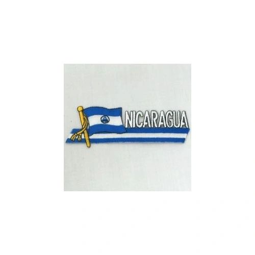 NICARAGUA SIDEKICK WORD COUNTRY FLAG IRON ON PATCH CREST BADGE