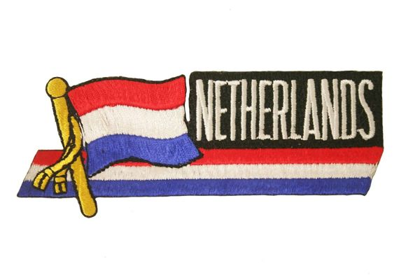 NETHERLANDS SIDEKICK WORD COUNTRY FLAG IRON ON PATCH CREST BADGE