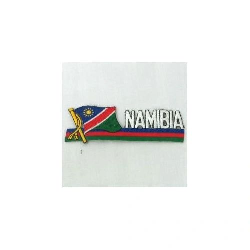 NAMIBIA SIDEKICK WORD COUNTRY FLAG IRON ON PATCH CREST BADGE
