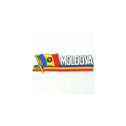 MOLDOVA SIDEKICK WORD COUNTRY FLAG IRON ON PATCH CREST BADGE
