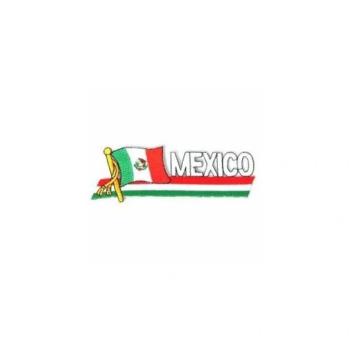 MEXICO SIDEKICK WORD COUNTRY FLAG IRON ON PATCH CREST BADGE
