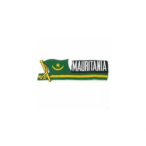 MAURITANIA SIDEKICK WORD COUNTRY FLAG IRON ON PATCH CREST BADGE