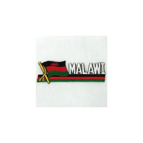 MALAWI SIDEKICK WORD COUNTRY FLAG IRON ON PATCH CREST BADGE