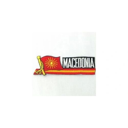 MACEDONIA OLD SIDEKICK WORD COUNTRY FLAG IRON ON PATCH CREST BADGE
