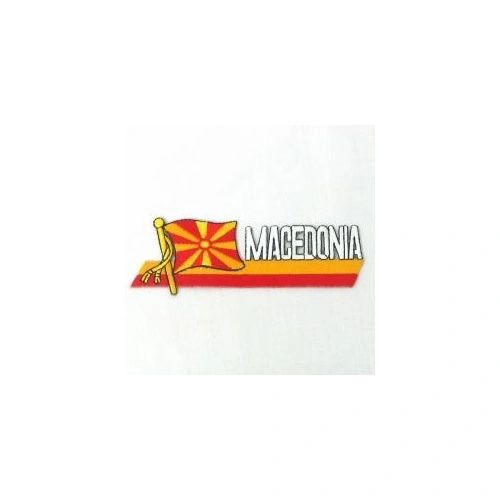 MACEDONIA NEW SIDEKICK WORD COUNTRY FLAG IRON ON PATCH CREST BADGE