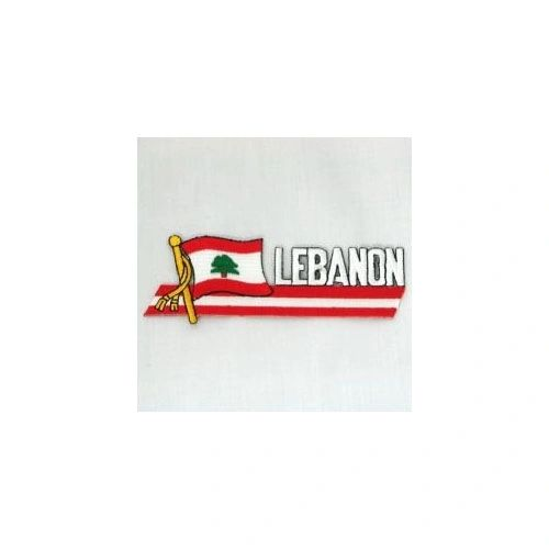 LEBANON SIDEKICK WORD COUNTRY FLAG IRON ON PATCH CREST BADGE