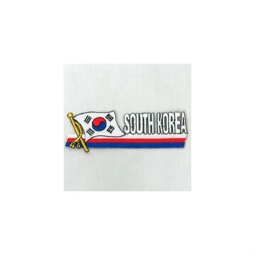 SOUTH KOREA SIDEKICK WORD COUNTRY FLAG IRON ON PATCH CREST BADGE