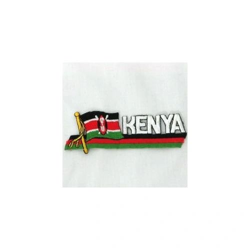 KENYA SIDEKICK WORD COUNTRY FLAG IRON ON PATCH CREST BADGE
