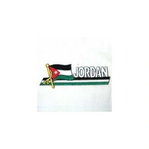 JORDAN SIDEKICK WORD COUNTRY FLAG IRON ON PATCH CREST BADGE