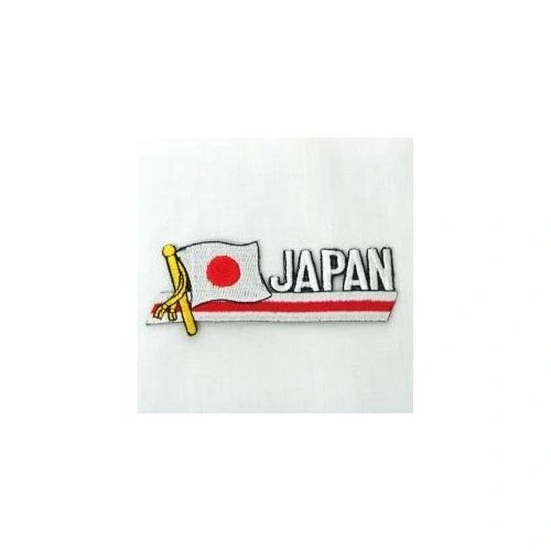 JAPAN SIDEKICK WORD COUNTRY FLAG IRON ON PATCH CREST BADGE
