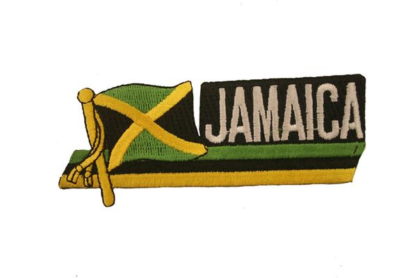 JAMAICA SIDEKICK WORD COUNTRY FLAG IRON ON PATCH CREST BADGE