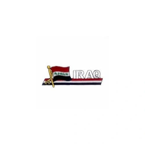 IRAQ OLD SIDEKICK WORD COUNTRY FLAG IRON ON PATCH CREST BADGE