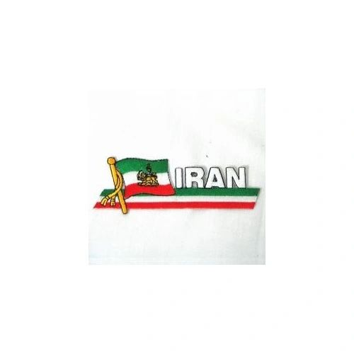IRAN SIDEKICK WORD COUNTRY FLAG IRON ON PATCH CREST BADGE