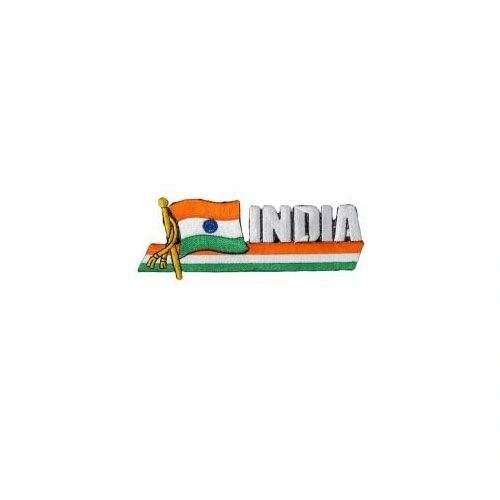 INDIA SIDEKICK WORD COUNTRY FLAG IRON ON PATCH CREST BADGE