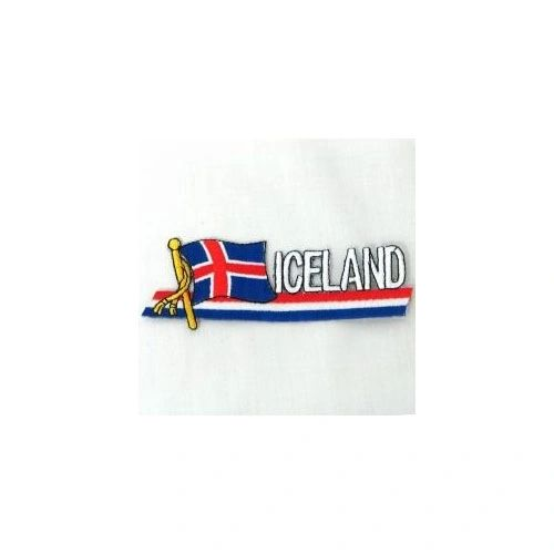 ICELAND SIDEKICK WORD COUNTRY FLAG IRON ON PATCH CREST BADGE