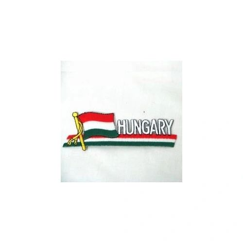 HUNGARY SIDEKICK WORD COUNTRY FLAG IRON ON PATCH CREST BADGE