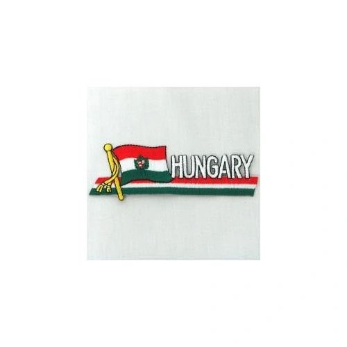 HUNGARY CREST SIDEKICK WORD COUNTRY FLAG IRON ON PATCH CREST BADGE