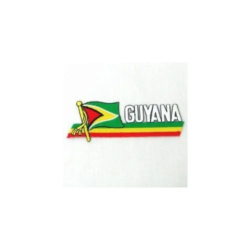 GUYANA SIDEKICK WORD COUNTRY FLAG IRON ON PATCH CREST BADGE