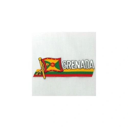 GRENADA SIDEKICK WORD COUNTRY FLAG IRON ON PATCH CREST BADGE