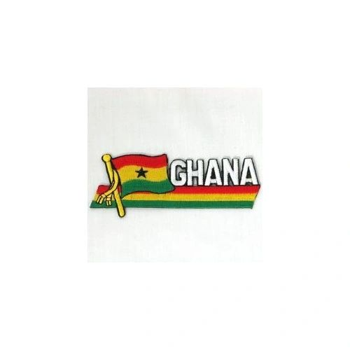 GHANA SIDEKICK WORD COUNTRY FLAG IRON ON PATCH CREST BADGE