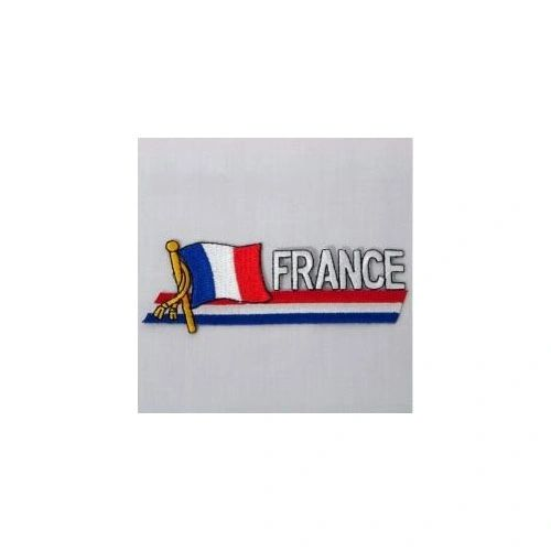 FRANCE SIDEKICK WORD COUNTRY FLAG IRON ON PATCH CREST BADGE