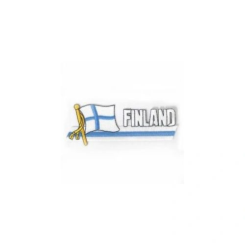 FINLAND SIDEKICK WORD COUNTRY FLAG IRON ON PATCH CREST BADGE