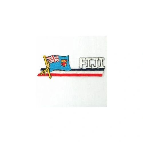 FIJI SIDEKICK WORD COUNTRY FLAG IRON ON PATCH CREST BADGE