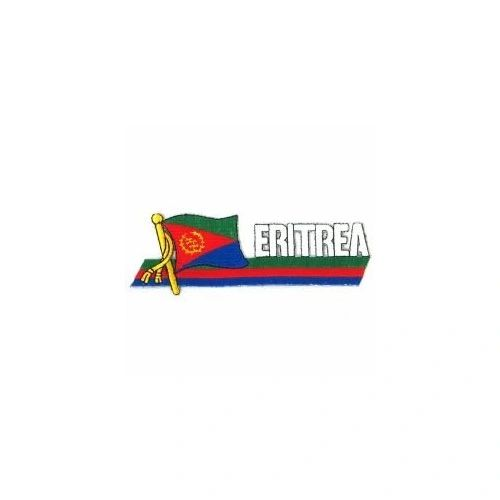 ERITREA SIDEKICK WORD COUNTRY FLAG IRON ON PATCH CREST BADGE