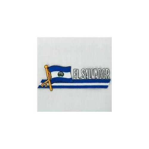 EL SALVADOR SIDEKICK WORD COUNTRY FLAG IRON ON PATCH CREST BADGE