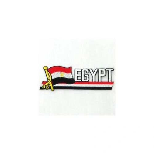 EGYPT SIDEKICK WORD COUNTRY FLAG IRON ON PATCH CREST BADGE