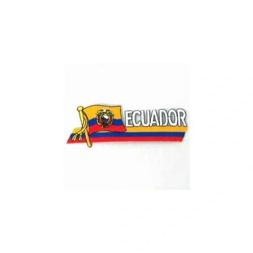 ECUADOR SIDEKICK WORD COUNTRY FLAG IRON ON PATCH CREST BADGE