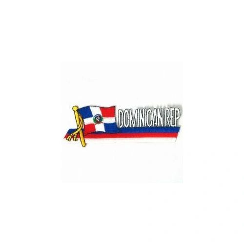 DOMINICAN REPUBLIC SIDEKICK WORD COUNTRY FLAG IRON ON PATCH CREST BADGE