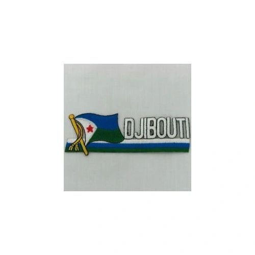 DJIBOUTI SIDEKICK WORD COUNTRY FLAG IRON ON PATCH CREST BADGE