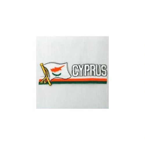 CYPRUS SIDEKICK WORD COUNTRY FLAG IRON ON PATCH CREST BADGE
