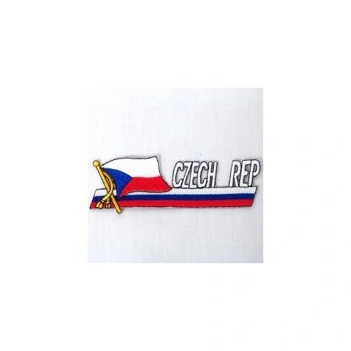 CZECH REPUBLIC SIDEKICK WORD COUNTRY FLAG IRON ON PATCH CREST BADGE