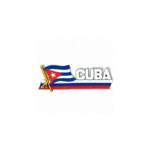 CUBA SIDEKICK WORD COUNTRY FLAG IRON ON PATCH CREST BADGE