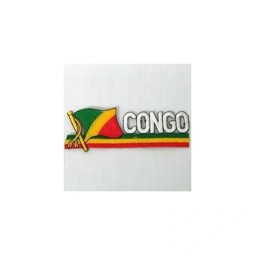 CONGO REPUBLIC SIDEKICK WORD COUNTRY FLAG IRON ON PATCH CREST BADGE