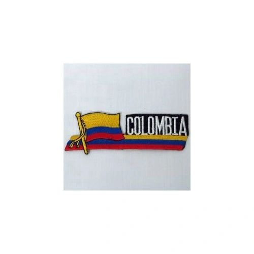 COLOMBIA SIDEKICK WORD COUNTRY FLAG IRON ON PATCH CREST BADGE