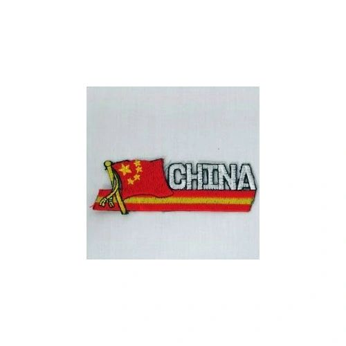 CHINA SIDEKICK WORD COUNTRY FLAG IRON ON PATCH CREST BADGE